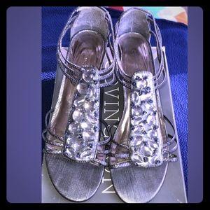 Covington • 8M • Slip On Open Toe Wedge Sandals